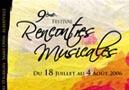 Festival des Rencontres Musicales de <b>Savoie</b>